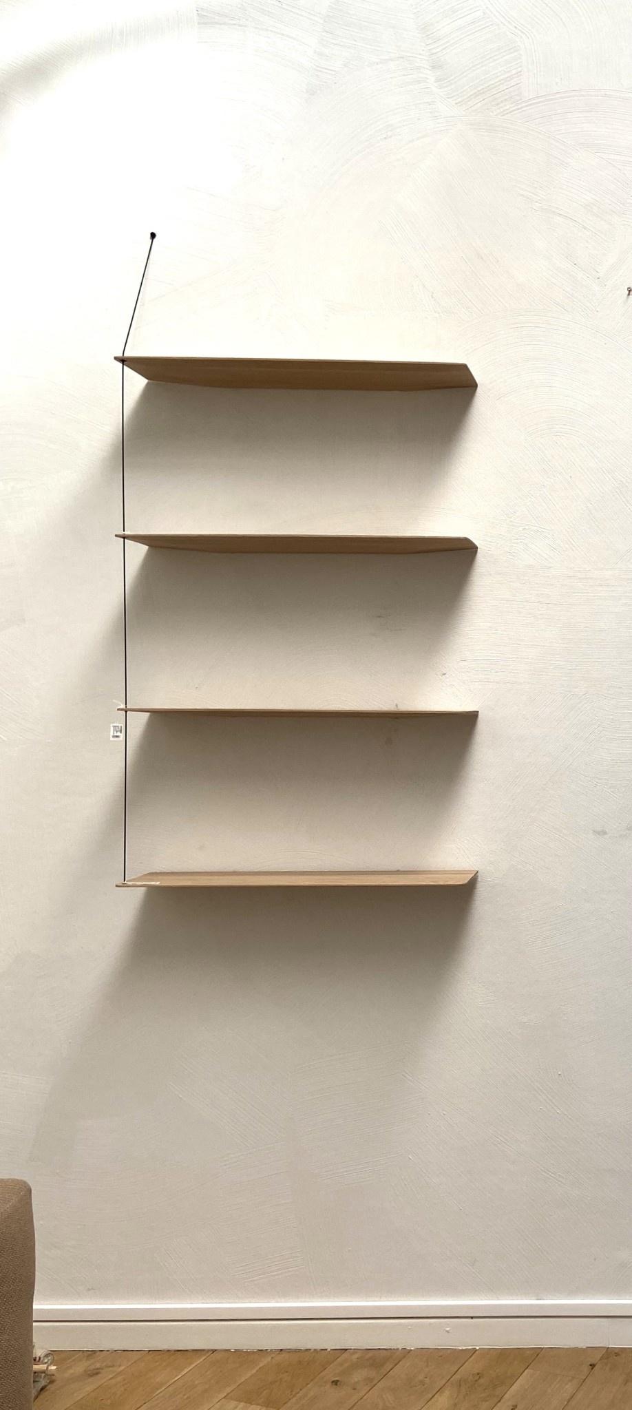 Toonzaalmodel Stedge Shelf - White pigmented lacquered oak 80 cm-1