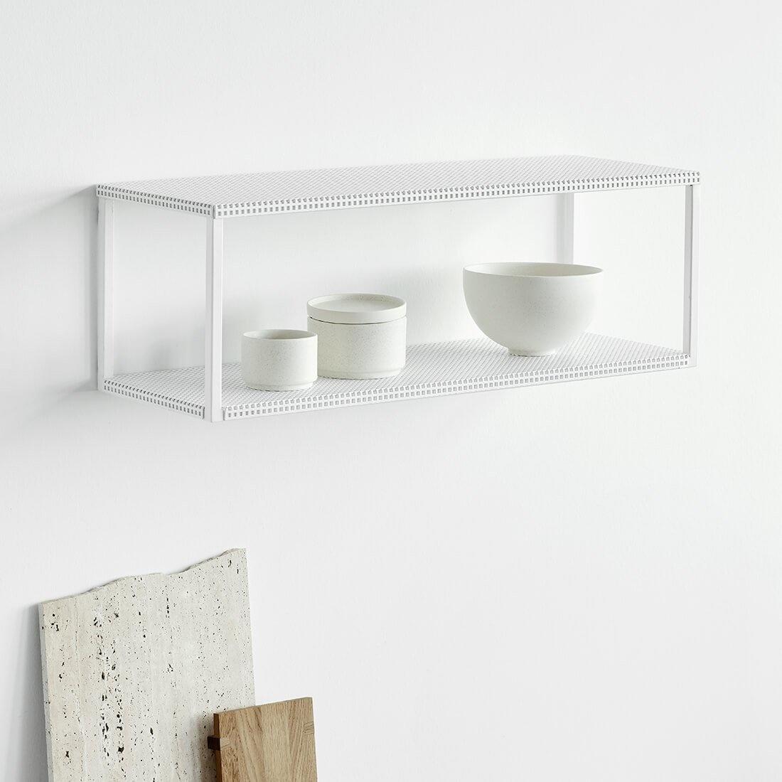 Toonzaalmodel Grid Wall Shelf  White-2