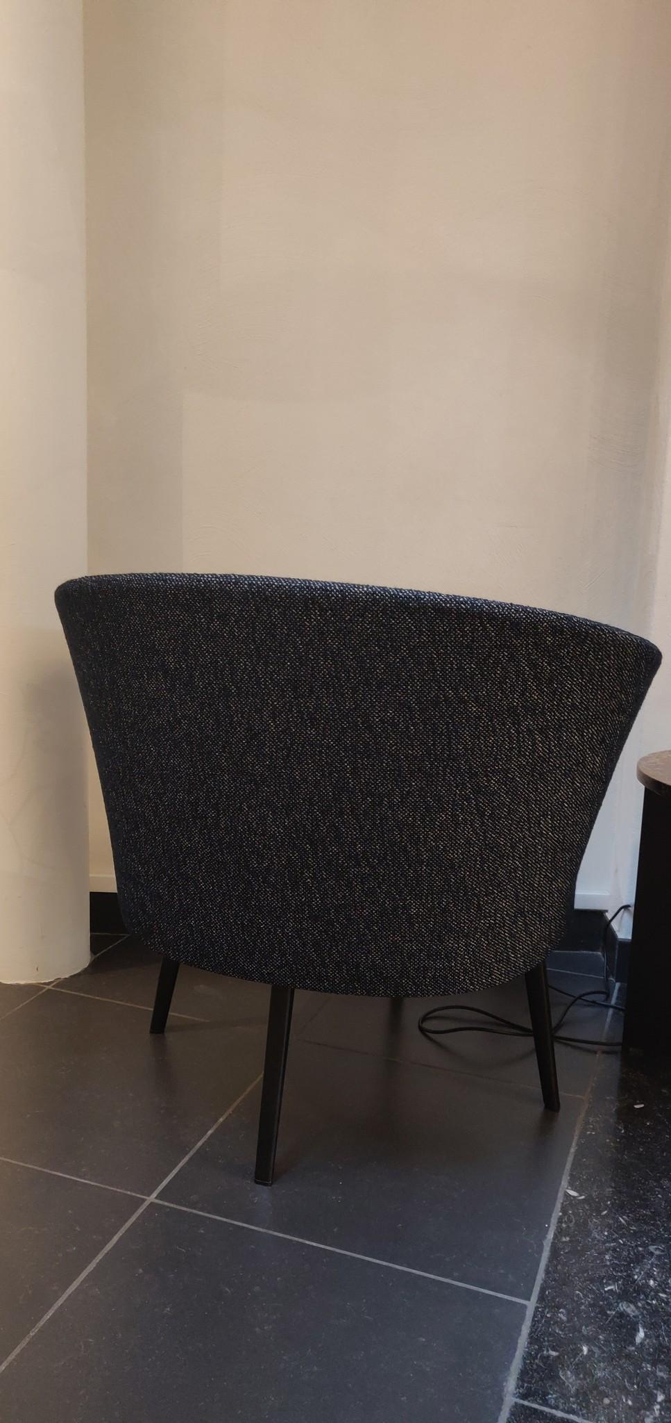 Toonzaalmodel Dorso BLACK POWDER COATED STEEL - FAIRWAY DARK BLUE 308-288-3