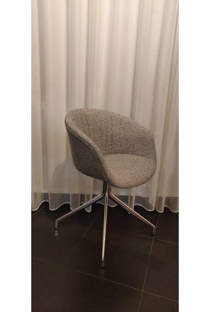 Toonzaalmodel AAC21 Soft Polished aluminium - Lint grey