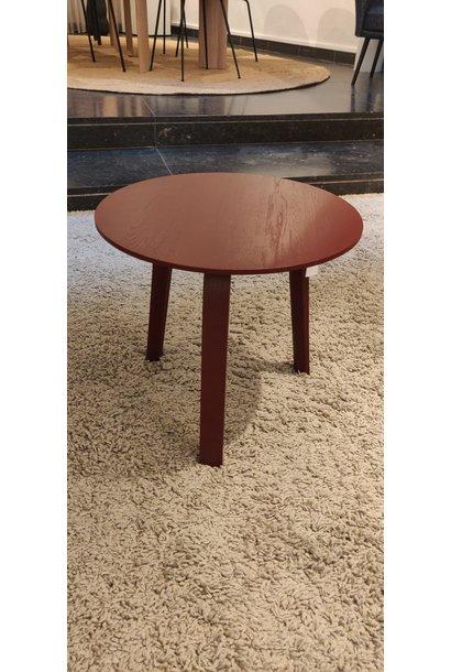 Toonzaalmodel Bella coffee table  Ø45 X H49 dark brick stained oak