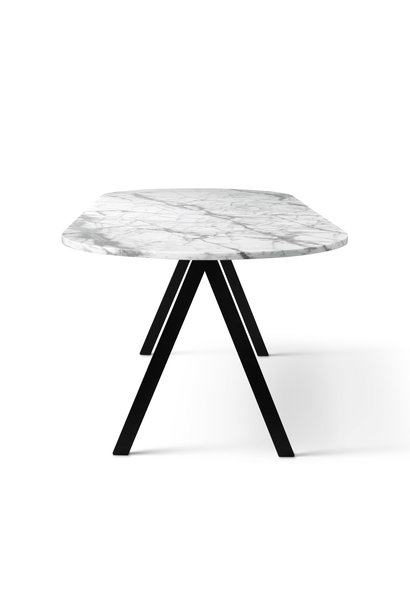 Saw Dining Table Rounded Marble 230x90