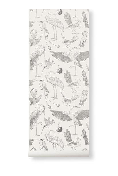 Birds Wallpaper Off-White