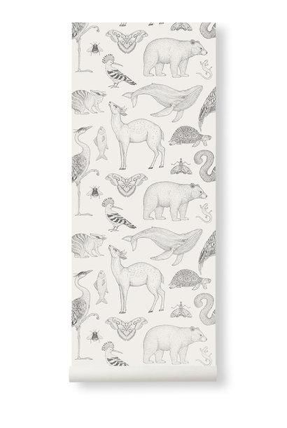 Animals Wallpaper Off-White
