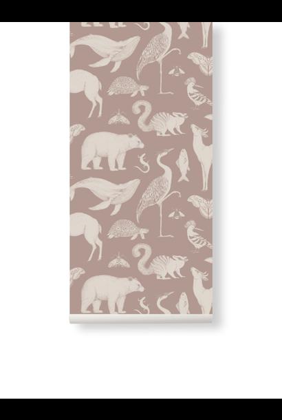 Animals Wallpaper Dusty Rose