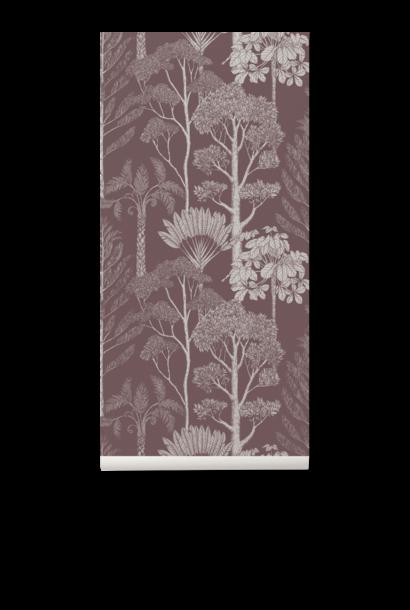 Trees Wallpaper Mahogany
