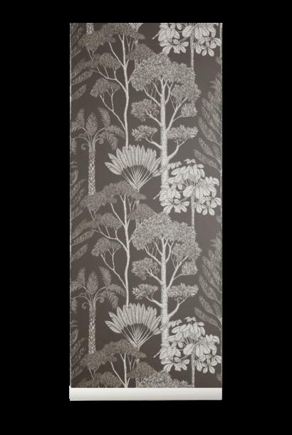 Trees Wallpaper Grey