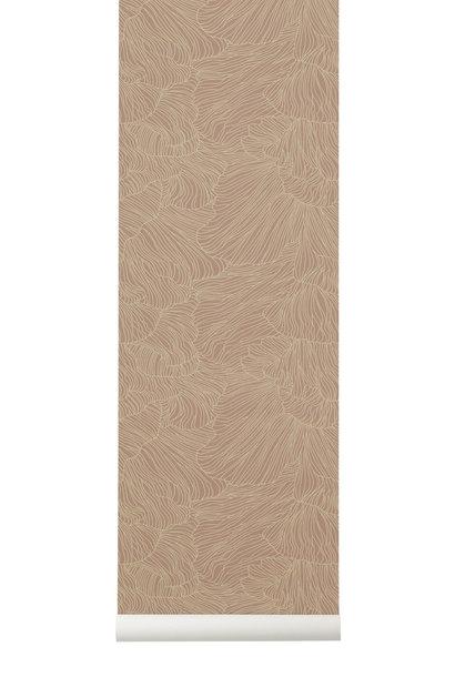 Coral Wallpaper Dusty Rose/Beige