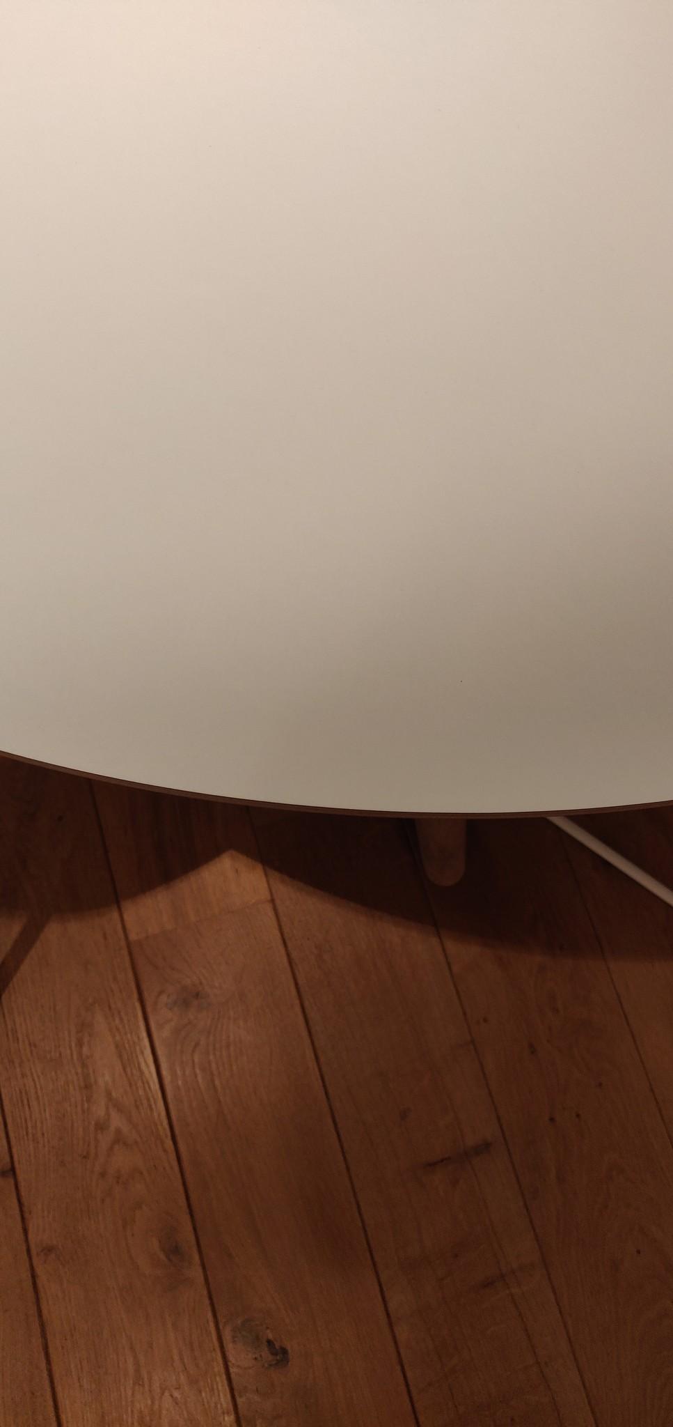 Toonzaalmodel CPH 20 - Matt lacquered solid oak White laminate dia120cm-2