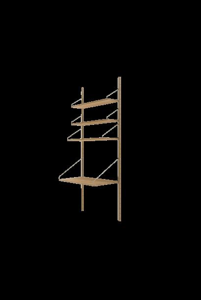 Shelf Library H1852 | Desk Section