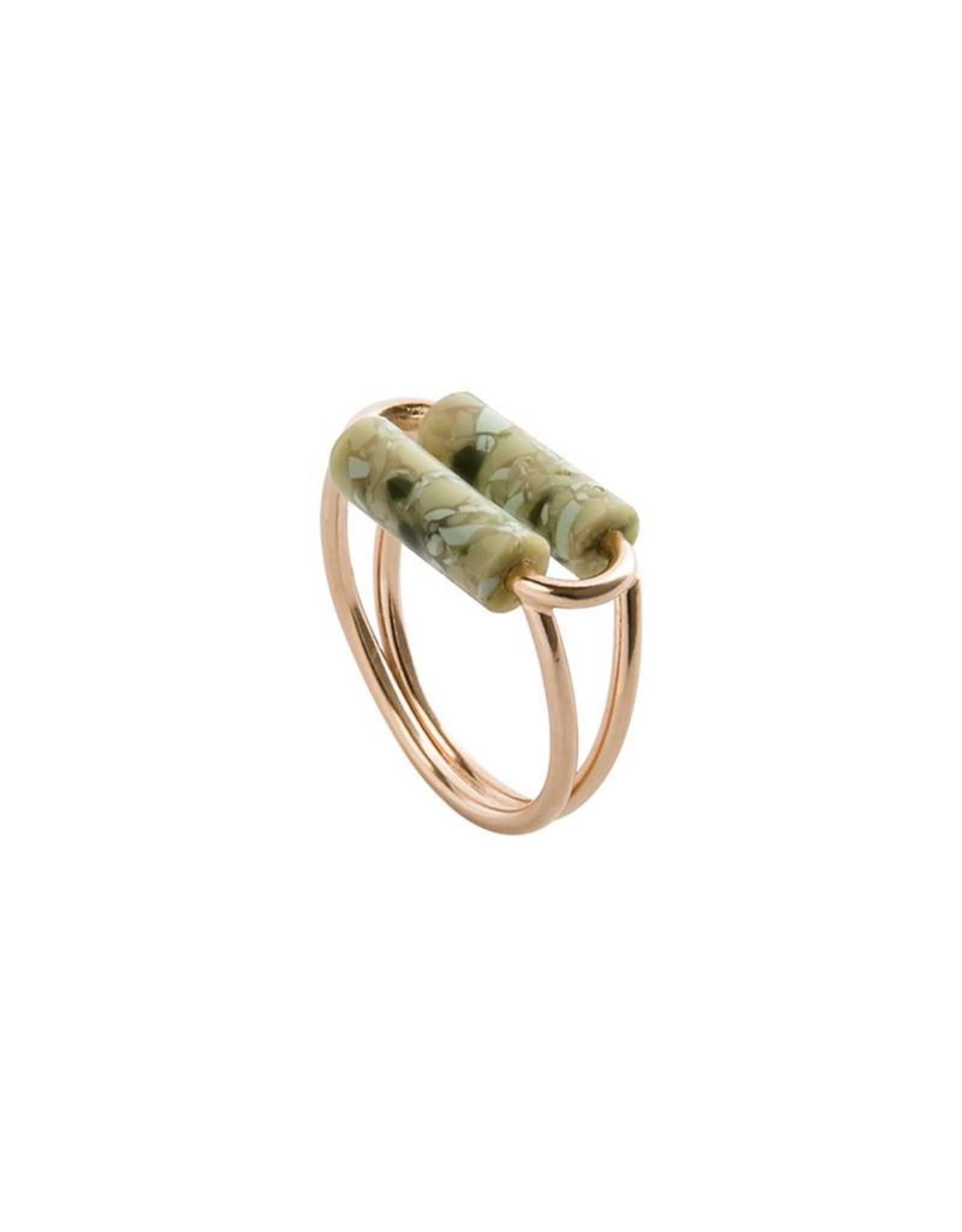 Lien Hereijgers Dubble date ring green