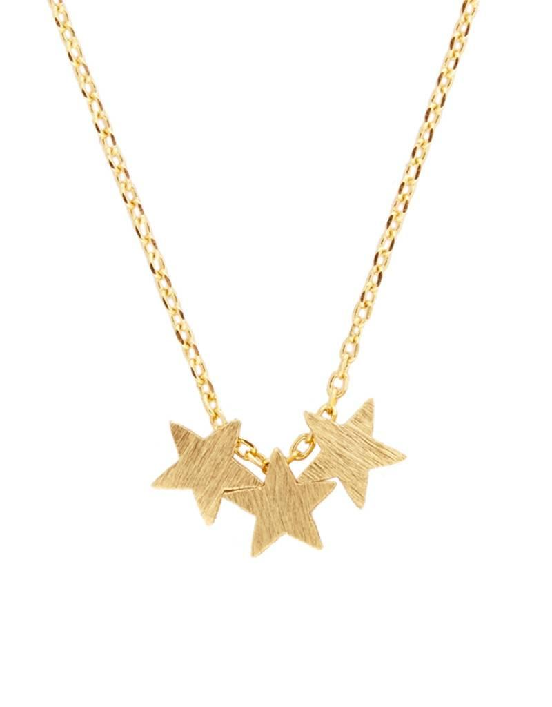All the luck in the world Fortune Necklace - three stars