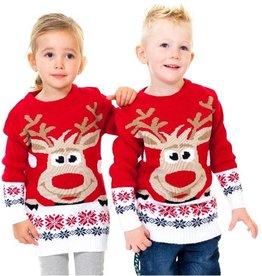 Weihnachtspulli Rudolph Rot Kinder