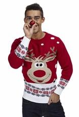 Weihnachtspulli Rudolph Rot Herren