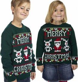 Weihnachtspuli Kinder Grün
