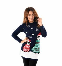 Weihnachtskleid Pinguin