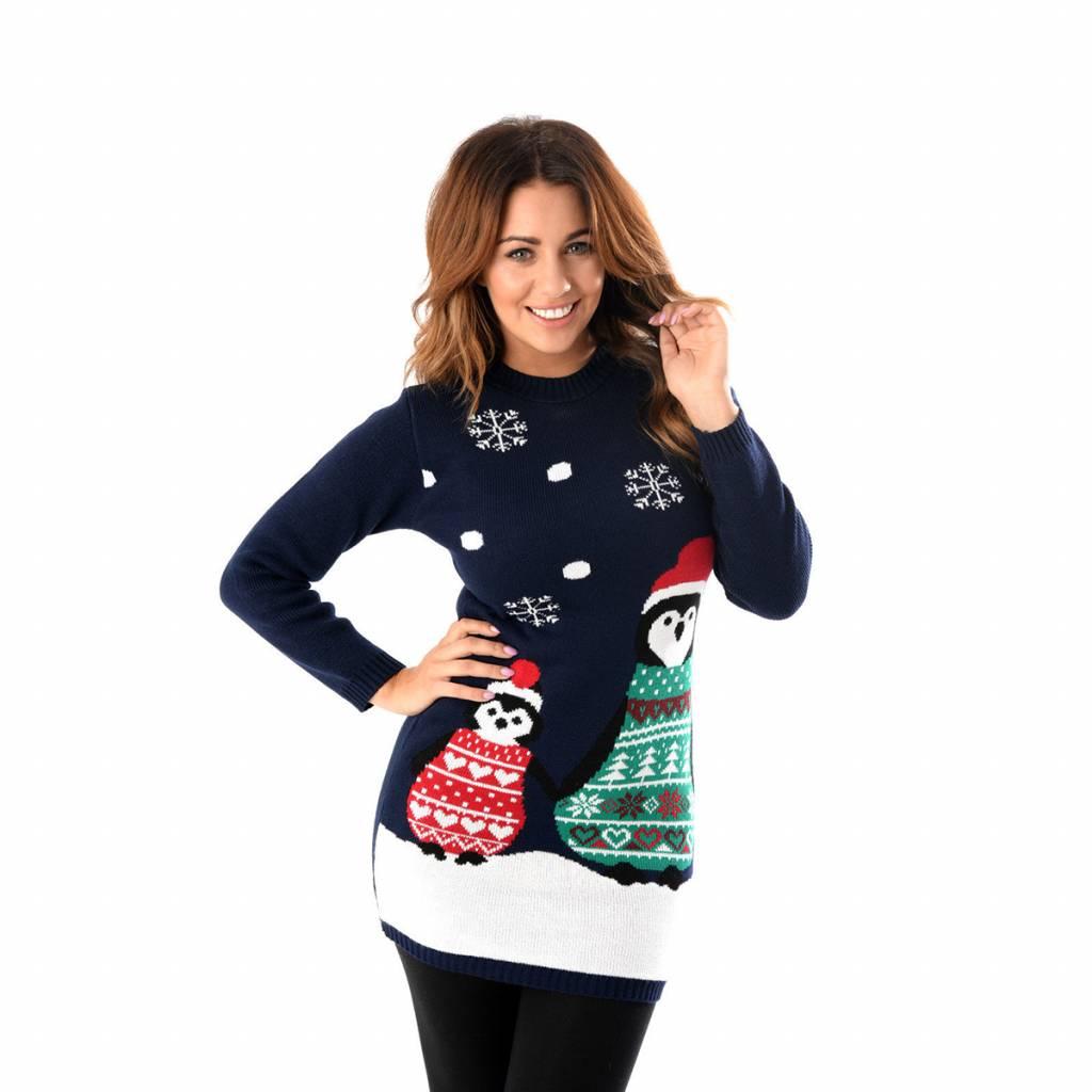 Weihnachtskleid Pinguin Damen