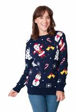 Weihnnachtspullover Happy Christmas Damen