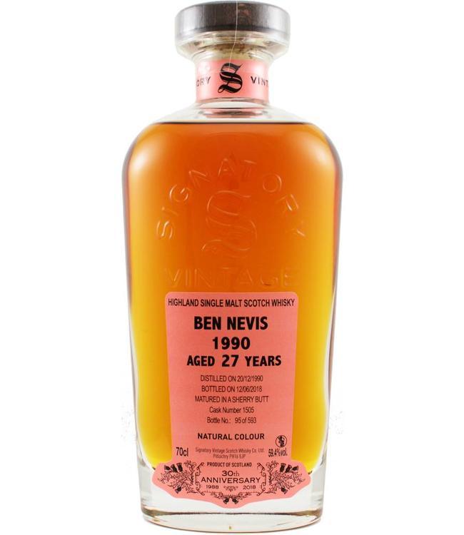 Ben Nevis Ben Nevis 1990 Signatory Vintage