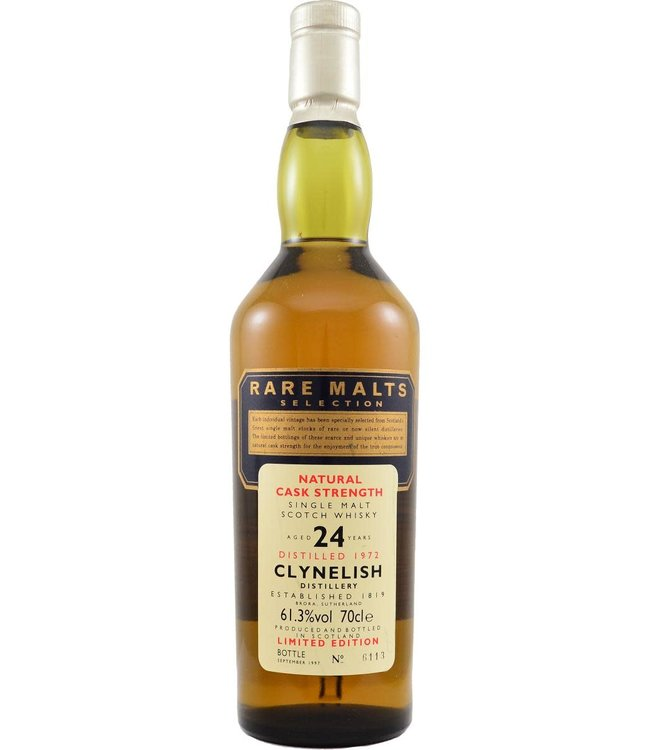 Caol Ila Clynelish 1972 Rare Malts - bottle 6113 (no box)