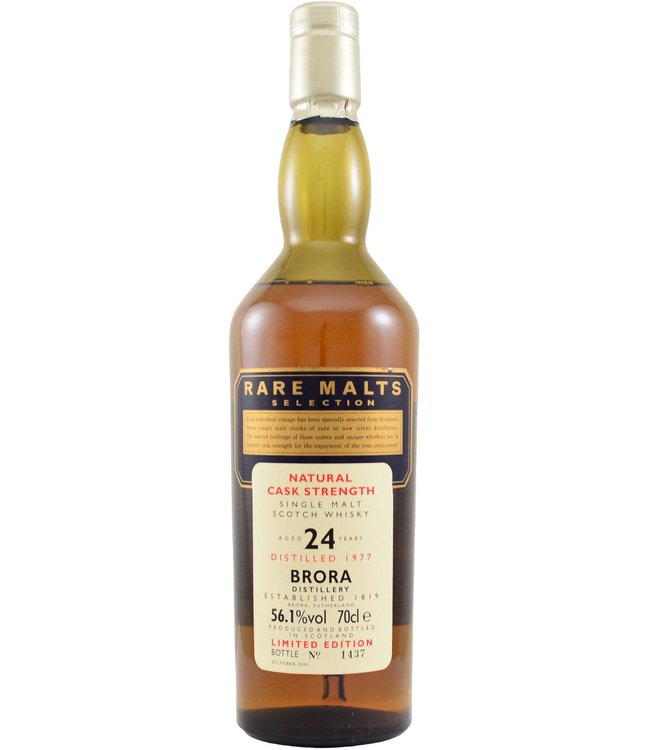Brora Brora 1977 Rare Malts - bottle 1437 (damaged box)