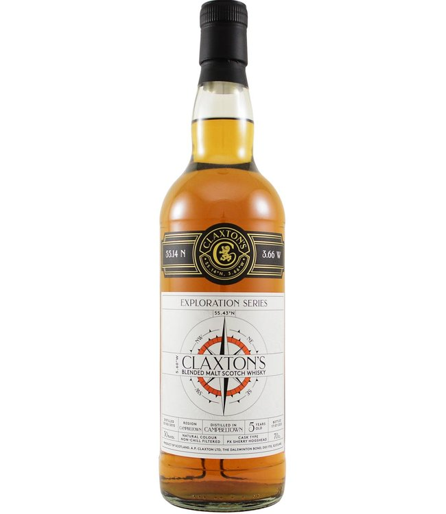 Glen Scotia Campbeltown Blended Malt Scotch Whisky 2015 Claxton's