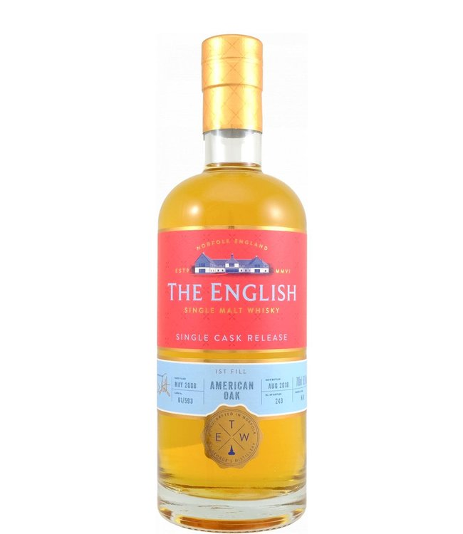 The English Whisky The English Whisky 2008 Single Cask American Oak