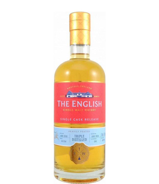 The English Whisky The English Whisky 2010 Triple Distilled Peated