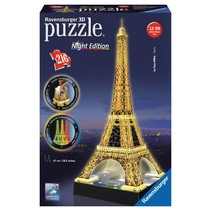 3D Puzzle: Eiffeltoren met licht (Night Edition)