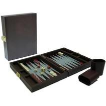 Backgammon Koffer magnetisch bruin 23x17