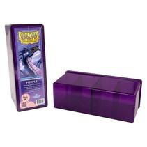 Cardbox Perspex Purple 240 Cards 4 compartment Dragon Shield