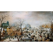 Winterlandschap met Schaatsers (1000)