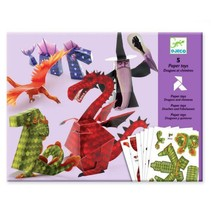 5 Paper Toys: Dragons & Chimeras