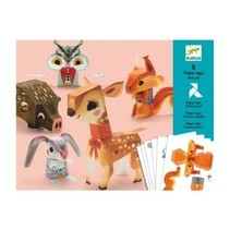 5 Paper Toys: Pretty Wood