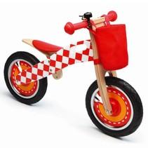 Scratch - Balance Bike (large) Rood/wit F1  (Loopfiets)