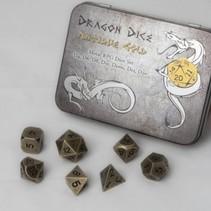 Dragon Dice Antique Gold Metal RPG Dice Set