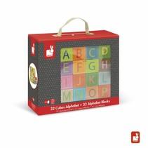 Janod  Alfabet Blokken (Alphabet Cubes)