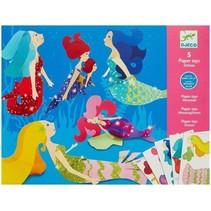 5 Paper Toys: Mermaids