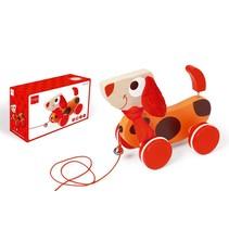 Trekfiguur Hond rood Oscar (scratch)
