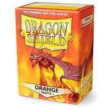Dragon Shield Sleeves: Orange Matte