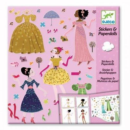 Djeco Stickers & Paperdolls: Dresses through the seasons