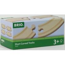 Brio: Korte Gebogen rail (4)