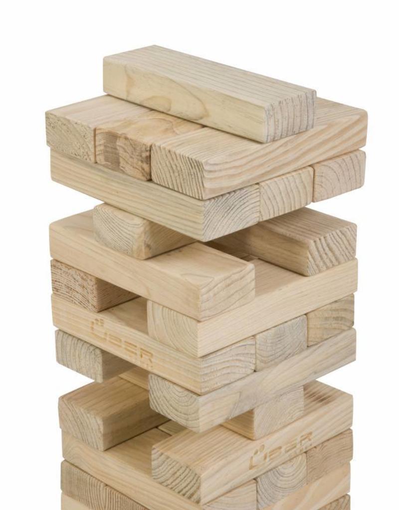 Ubergames Stapeltoren spel, tot 90 cm hoog, ECO pijnbomenhout