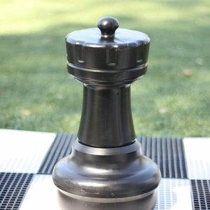 Ubergames Schaakstuk, Toren, 45 cm, wit of zwart