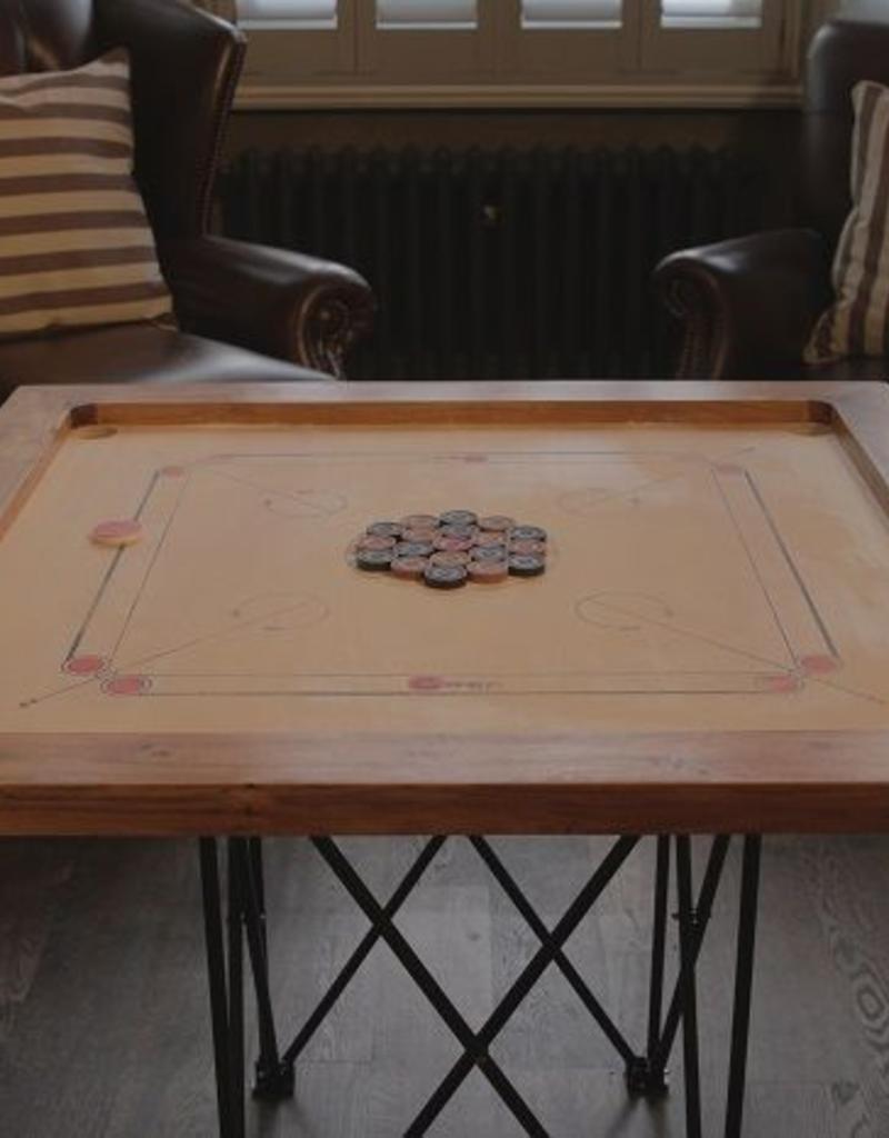 Ubergames Toernooi Carrom set. Professioneel bord, 12 kg. zwaar
