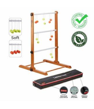 Ubergames Laddergolf spel - Soft-Golf ballen - Fluor Oranje Geel - Luxe