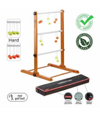 Ubergames Laddergolf spel - Golf ballen - Fluor Geel Oranje - Luxe