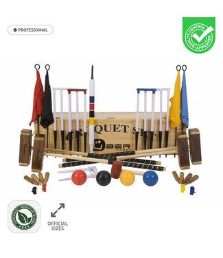 Ubergames Croquet - Professional - 16mm - Officieel - met Kist