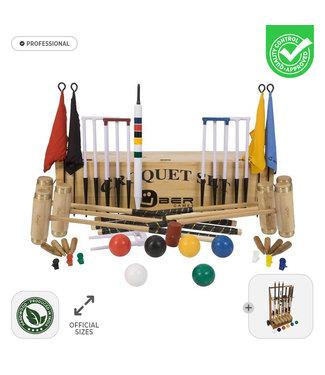 Ubergames Prachtige 6 persoons Professionele Croquet set -met Trolley