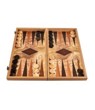 Manopoulos Olijf Backgammon set - Luxe - 30x17m - Superluxe